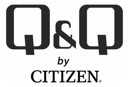 reloj analogo q&q by citizen para hombre de acero inoxidable sumergible 50m original agente oficial liniers