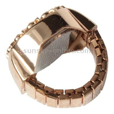 reloj anillo dedo cuarzo elastico decoracion