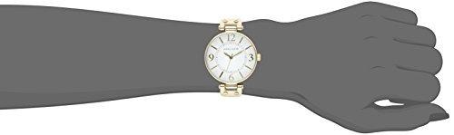 reloj anne klein 109168wtwt p/dama, malla de cuero blanco