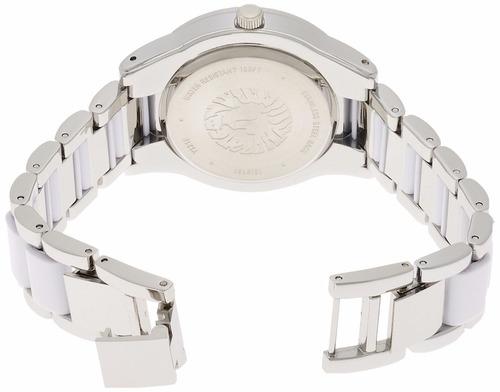 reloj anne klein acero inoxidable cerámica mujer 109181wtsv