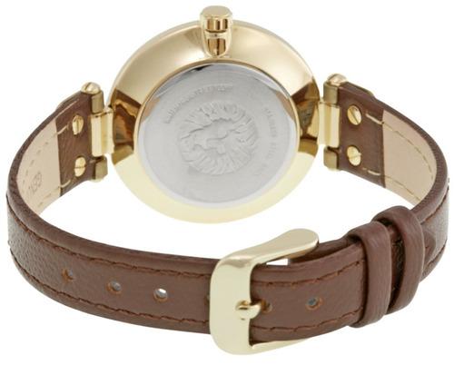 reloj anne klein acero tono dorado piel mujer 109168ivbn