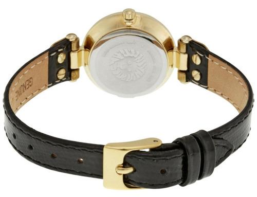 reloj anne klein acero tono dorado piel mujer ak/1950mpbk