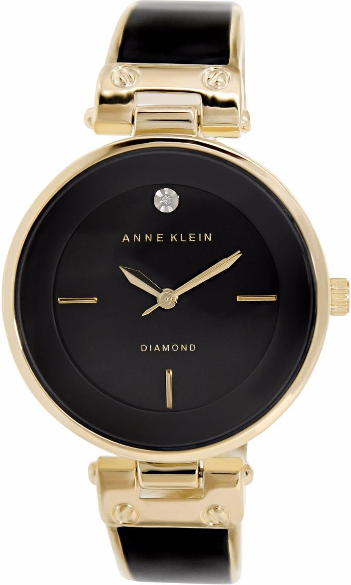 80d71f02f29b reloj anne klein ak1414bkgb para dama negro dorado diamond . Cargando zoom.