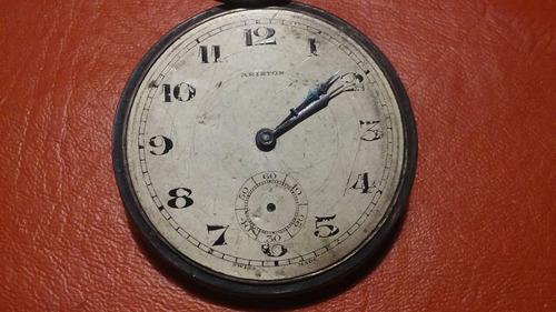 reloj antiguo con maquinaria de rubies