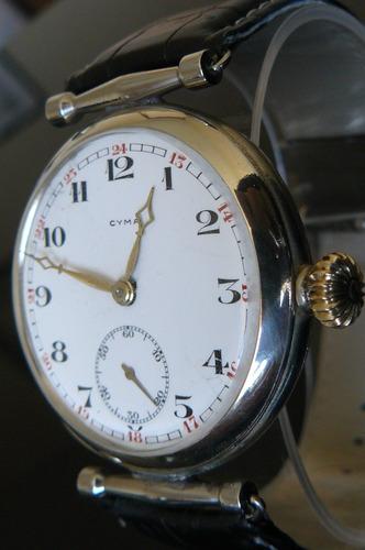 reloj antiguo cyma suizo a cueda 15 rubi año 1910 mecanico