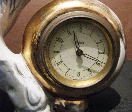 Reloj antiguo de mesa marca kaiser figura elefante - Relojes antiguos de mesa ...