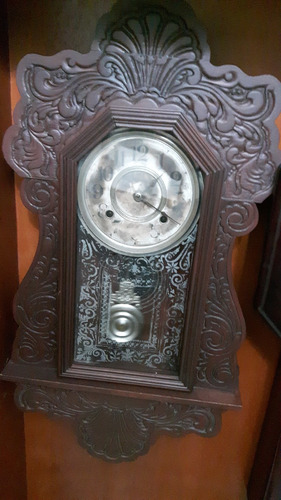reloj antiguo de pared ansonia. americano