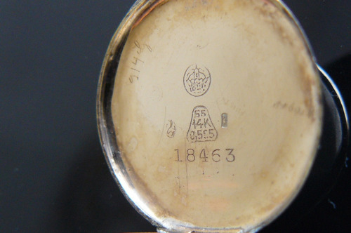 reloj antiguo en oro solido 14k kenwell suizo a cuerda 1920