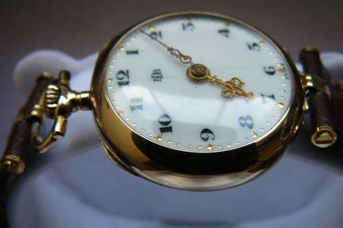 reloj antiguo en oro solido suizo mecanico cuerda de 1916