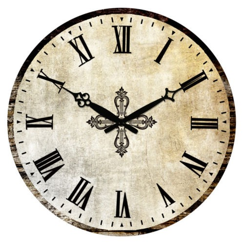 Reloj Antiguo Pared Estilo R 250 Stico Vintage Madera 02