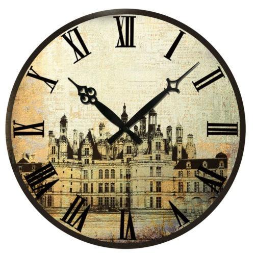 Reloj antiguo pared estilo r stico vintage madera 04 - Relojes rusticos de pared ...