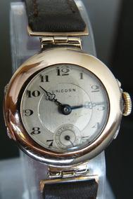 af6e8694ae63 Reloj Antiguo Rolex Unicorn Oro Solido Suizo Cuerda Año 1920