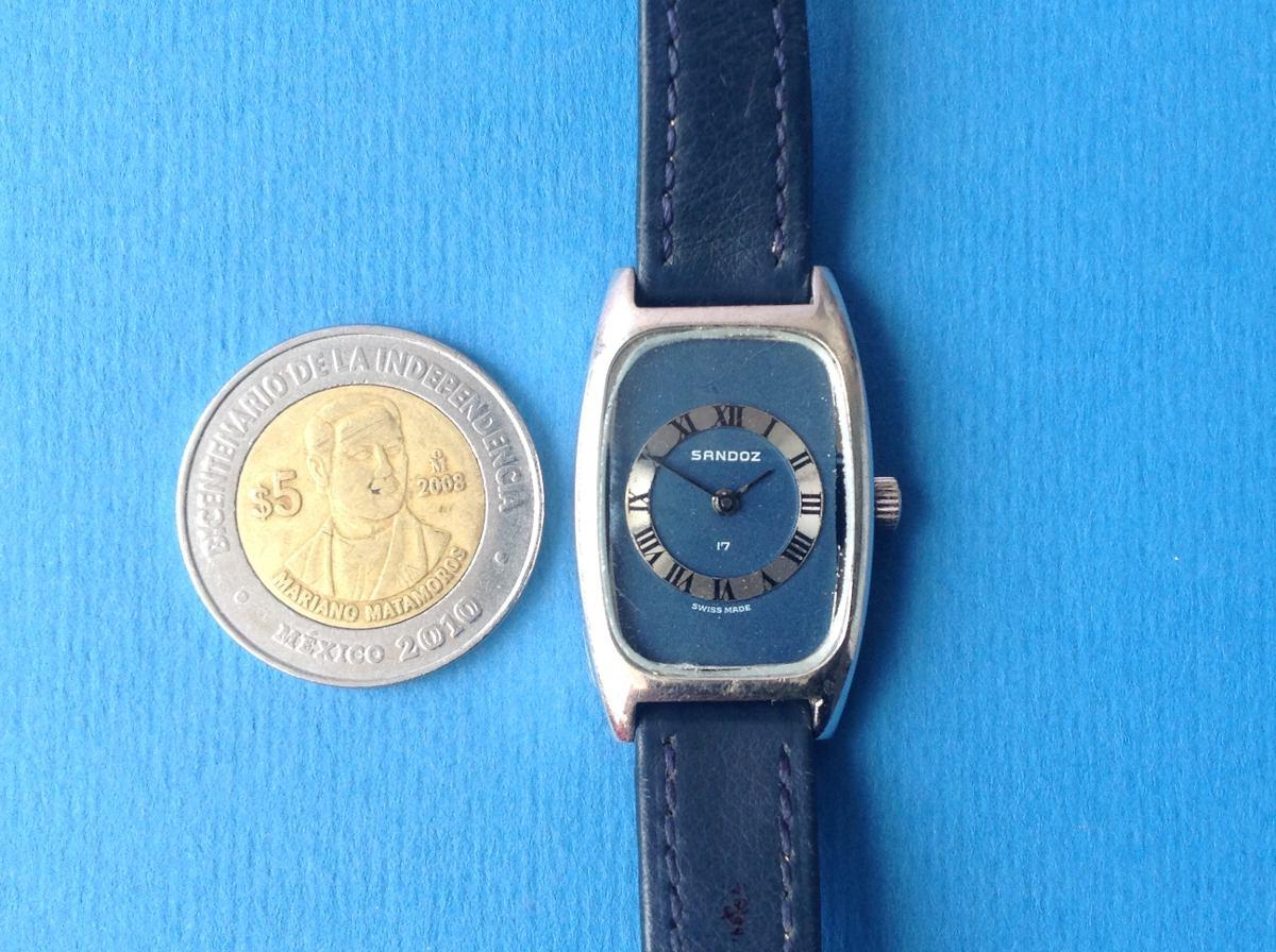 Reloj antiguo sandoz original cuerda para dama a os 70 - Reloj pared original ...