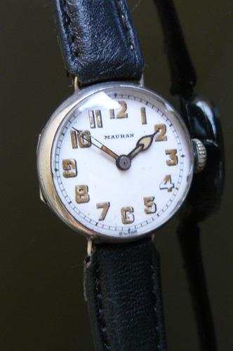 reloj antiguo suizo plata solido a cuerda 15 rubis de 1925