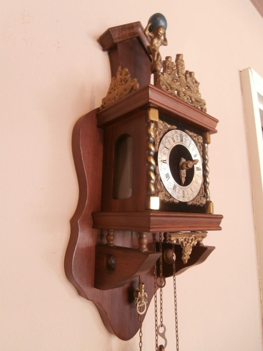 Pared Antiguo Pesas Mecánico Reloj Pendulo Wuba rxeWCodB