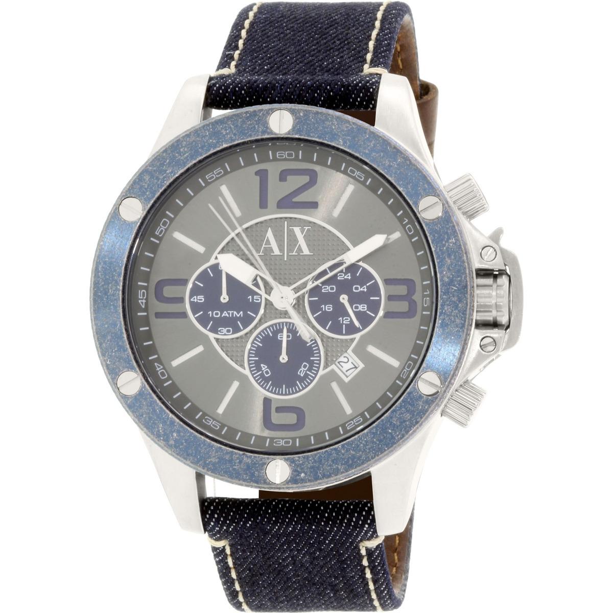 c3d30b398b9d Reloj Armani Exchange Para Hombres Ax1517 Correa De Cuero ...