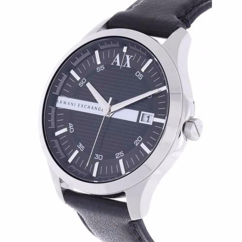 0d5d87bcf93d Reloj Armani Exchange Ax2101 Piel Negro Plata Para Caballero ...