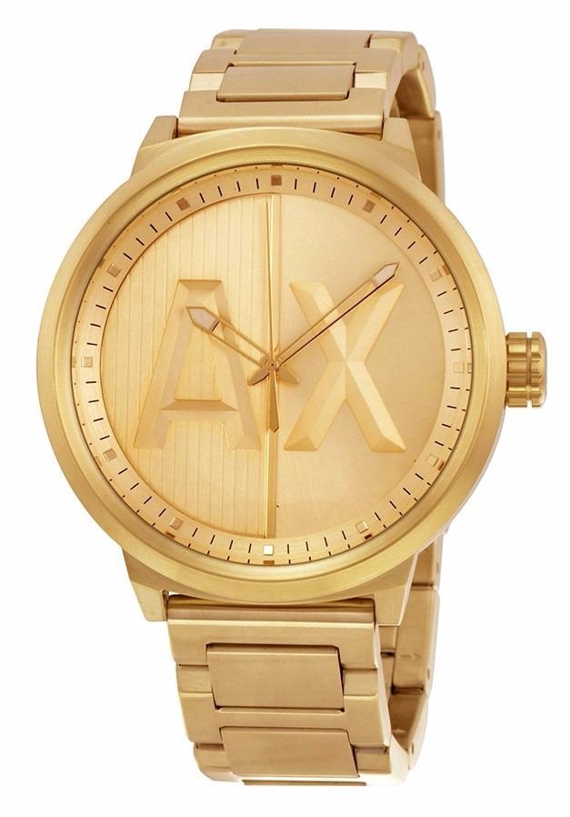 Acero Armani Atlc Reloj Exchange Hombre Dorado Ax1363 rCxoBed