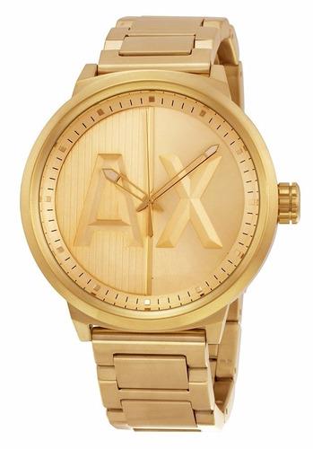 reloj armani exchange atlc acero dorado hombre ax1363