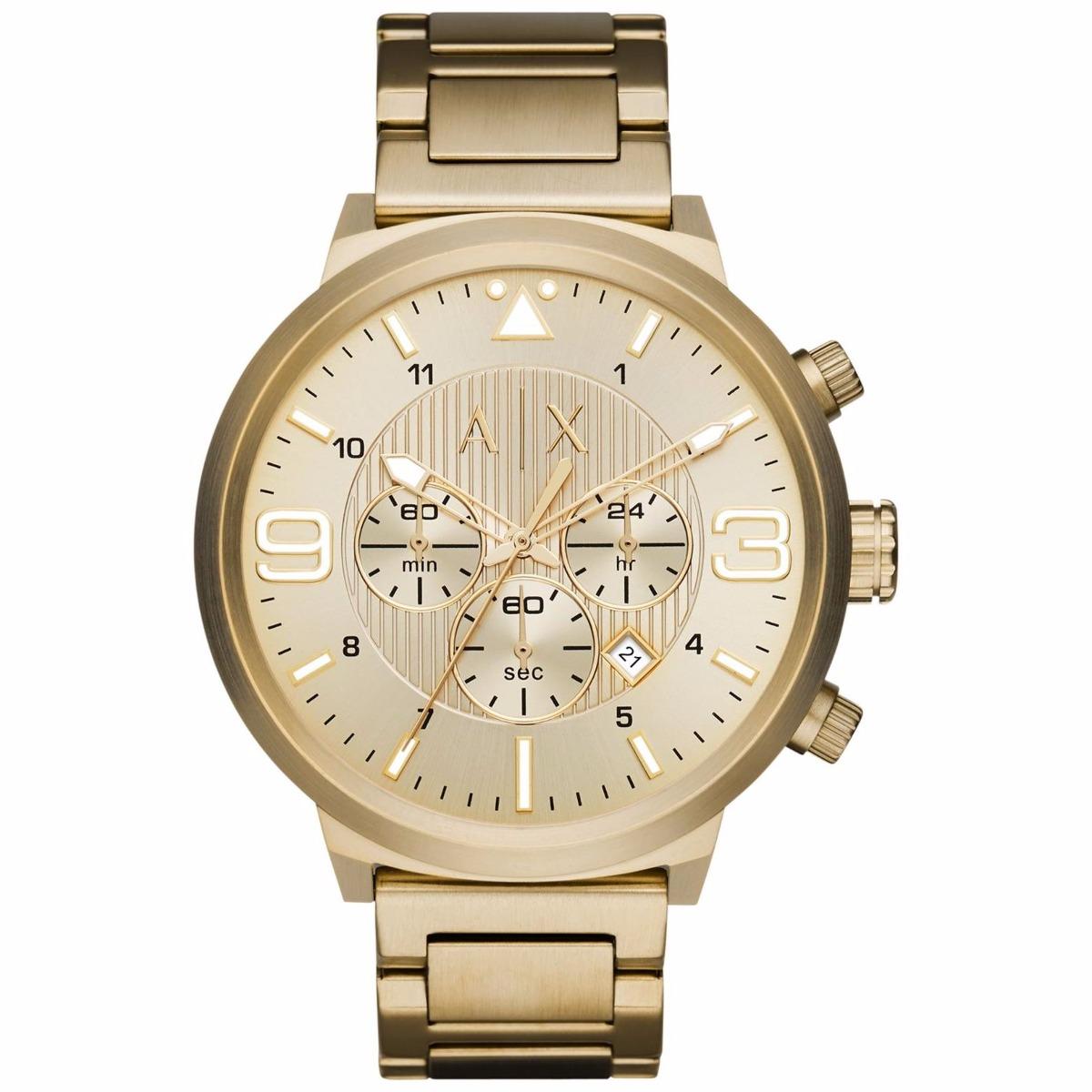 cba04dc7c64b reloj armani exchange ax1368 acero dorado crono para hombre . Cargando zoom.