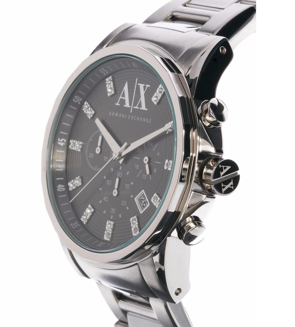 e64e00be9a11 reloj armani exchange ax2092 chrono acero plata negro hombre. Cargando zoom.