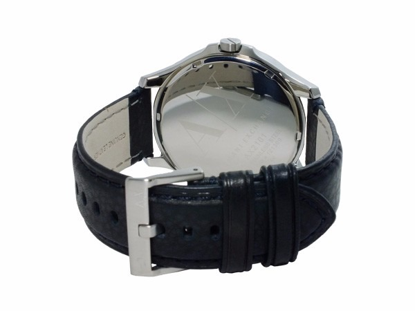 e8b27cdae773 Reloj Armani Exchange Ax2101 Piel Negro plata Para Caballero ...