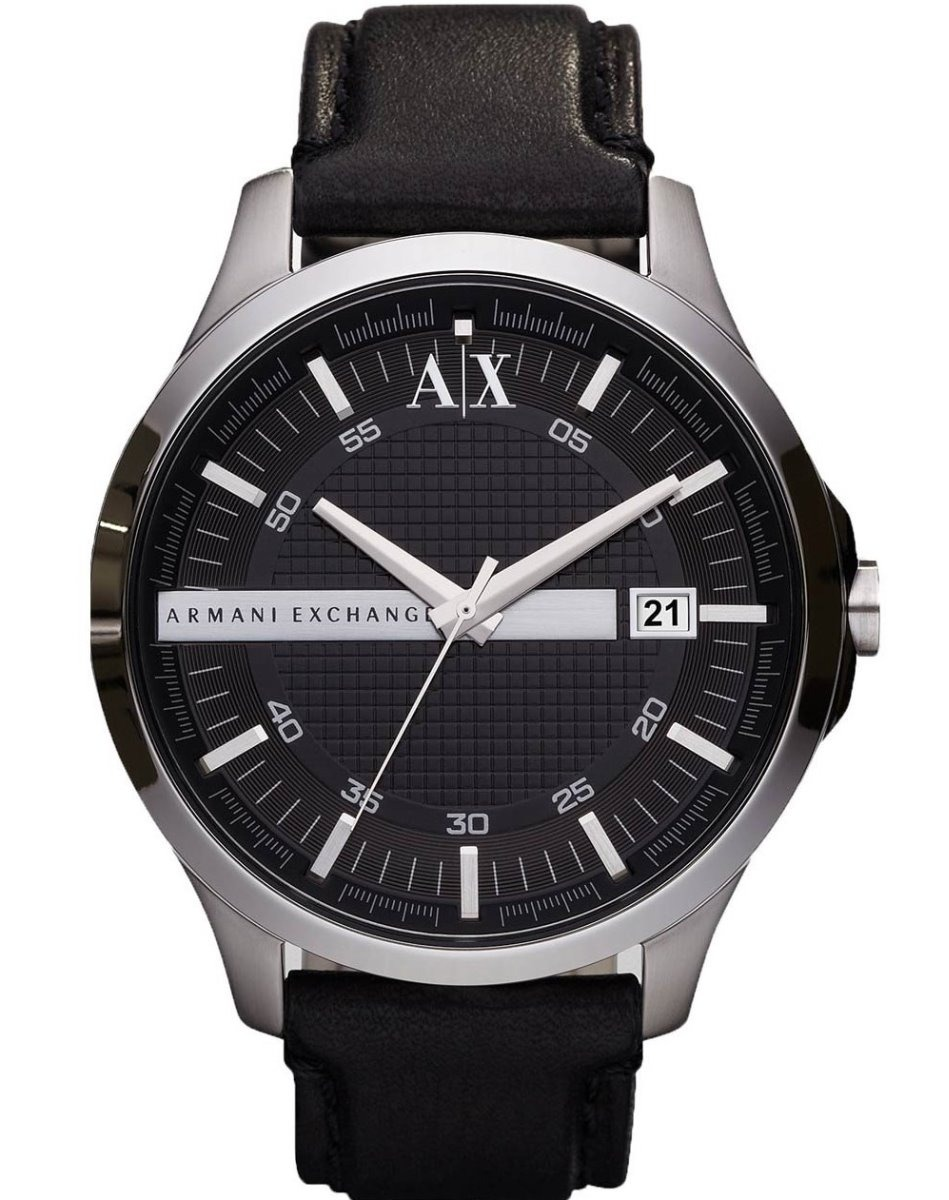 828106fabd7a reloj armani exchange ax2101 piel negro plata para caballero. Cargando zoom.