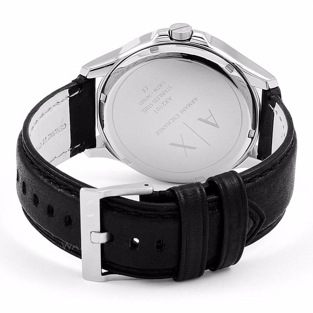 4bff381ddc99 reloj armani exchange ax2101 piel acero negro plateado. Cargando zoom.