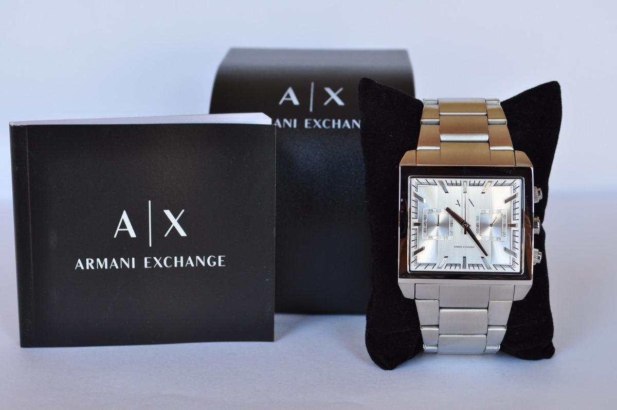 d06c94471274 reloj armani exchange ax2223 original cuadrado plata. Cargando zoom.