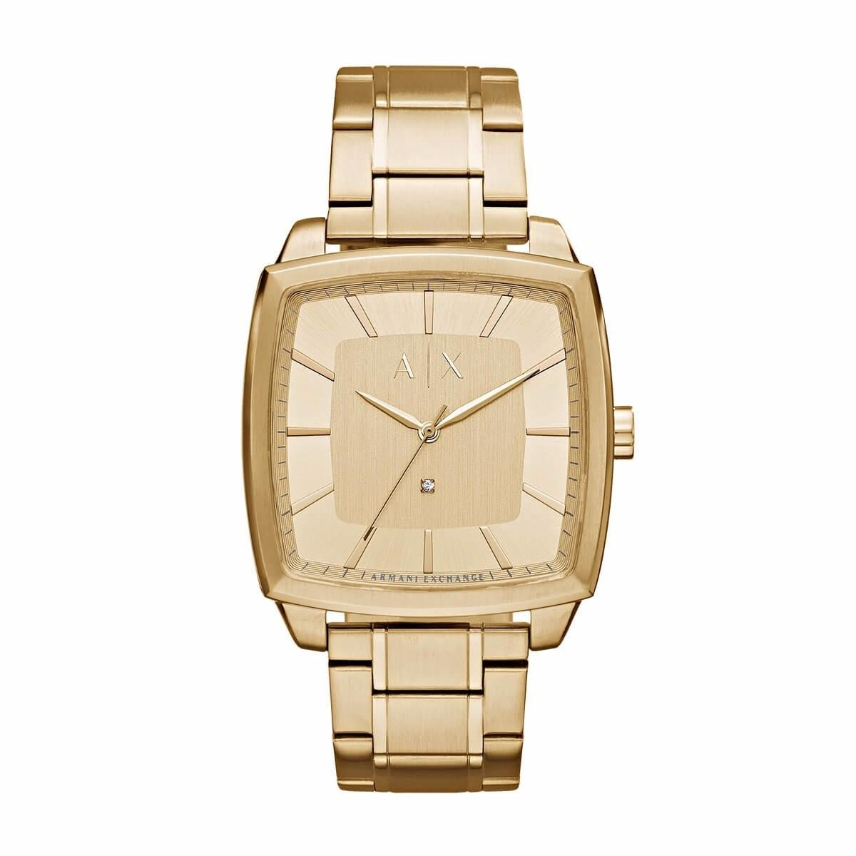 5bedd99c2aeb reloj armani exchange ax2364 cuadrado dorado diamond hombre . Cargando zoom.
