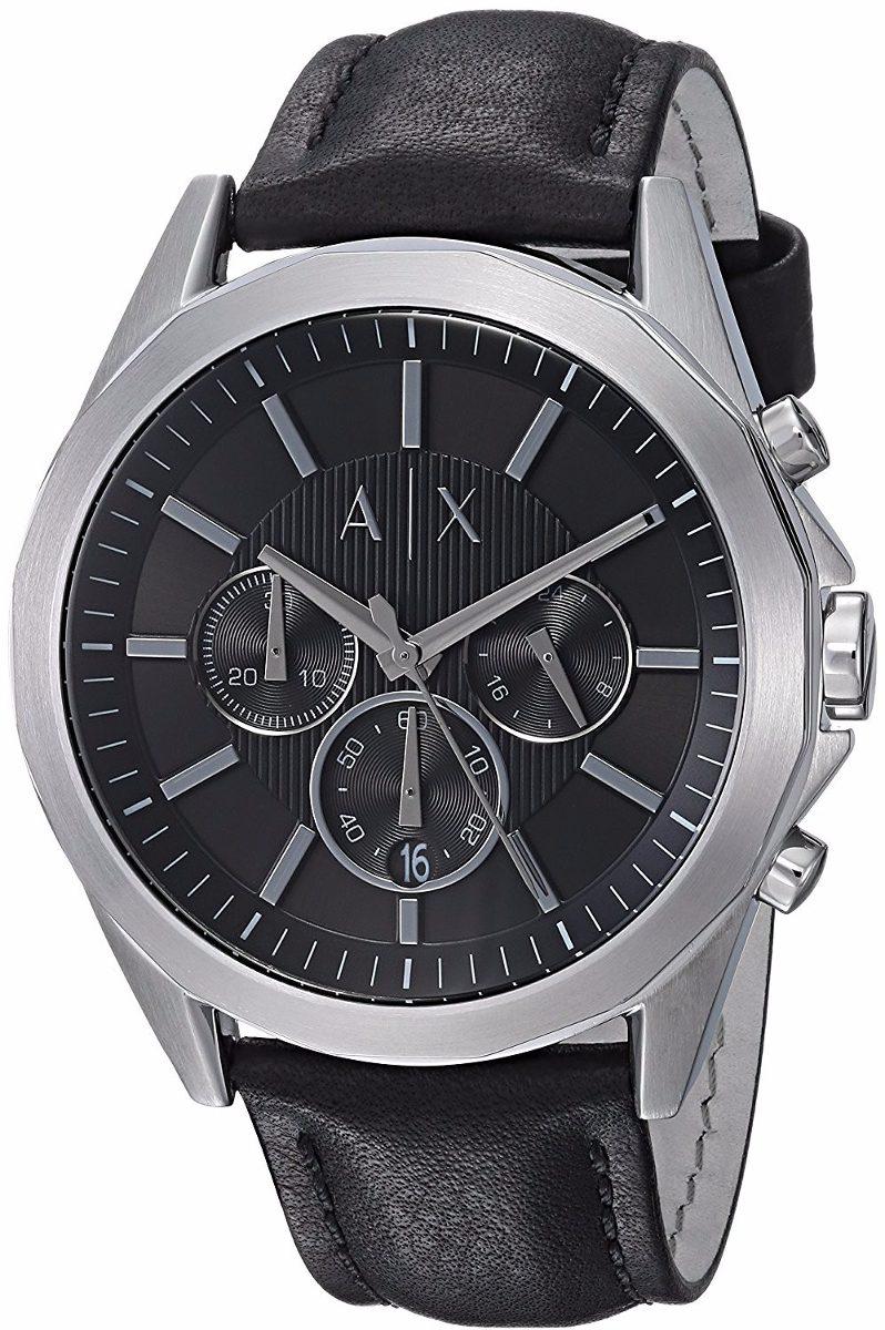 5cb56c9c4636 reloj armani exchange ax2604 piel negro hombre cronograph . Cargando zoom.