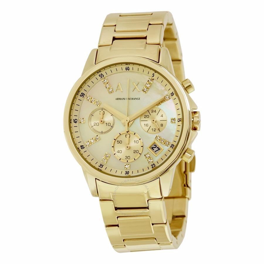 f3f1221abeb8 reloj armani exchange ax4327 dama dorado swarovzkys en dial. Cargando zoom.