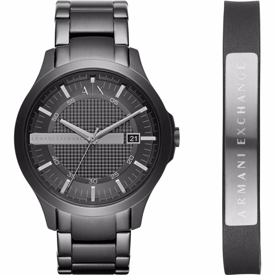 9fc9de97d2db reloj armani exchange ax7101 set acero negro para caballero . Cargando zoom.