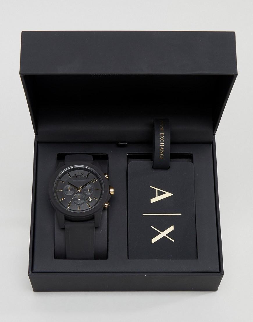 a57857facdc3 reloj armani exchange ax7105 set negro cronograph unisex or . Cargando zoom.