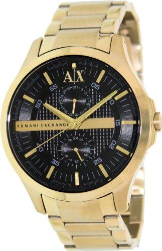 65b470a53451 Reloj Armani Exchange Black Dial Gold Pvd Para Hombre Ax2122 ...