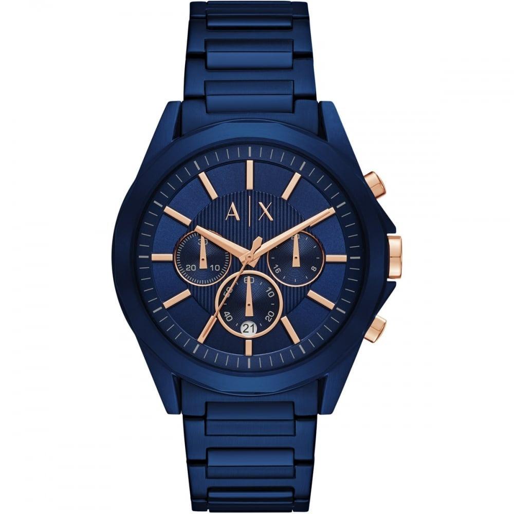 08071673b Reloj Armani Exchange De Pulsera Pvd Azul Para Hombre Ax2607 ...