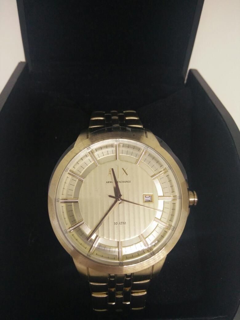 6112c39fe0b5 reloj armani exchange dorado hombre envio gratis. Cargando zoom.