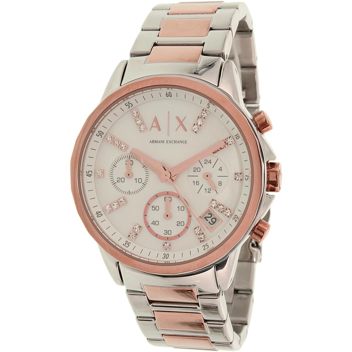 b464d2313528 Reloj Armani Exchange Para Mujer Ax4331 Plateado En Acero ...