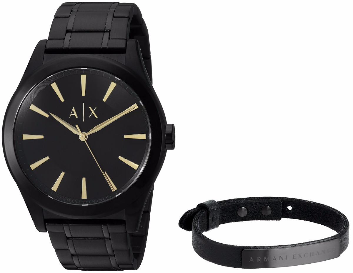 62685a8f6c4b reloj armani exchange negro de hombre ax7102 set con pulsera. Cargando zoom.