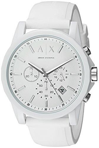 d15773981d39 Reloj Armani Exchange Para Hombre Ax1325 White Silicone ...