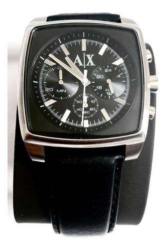 reloj armani exchange piel negro nuevo 100% original