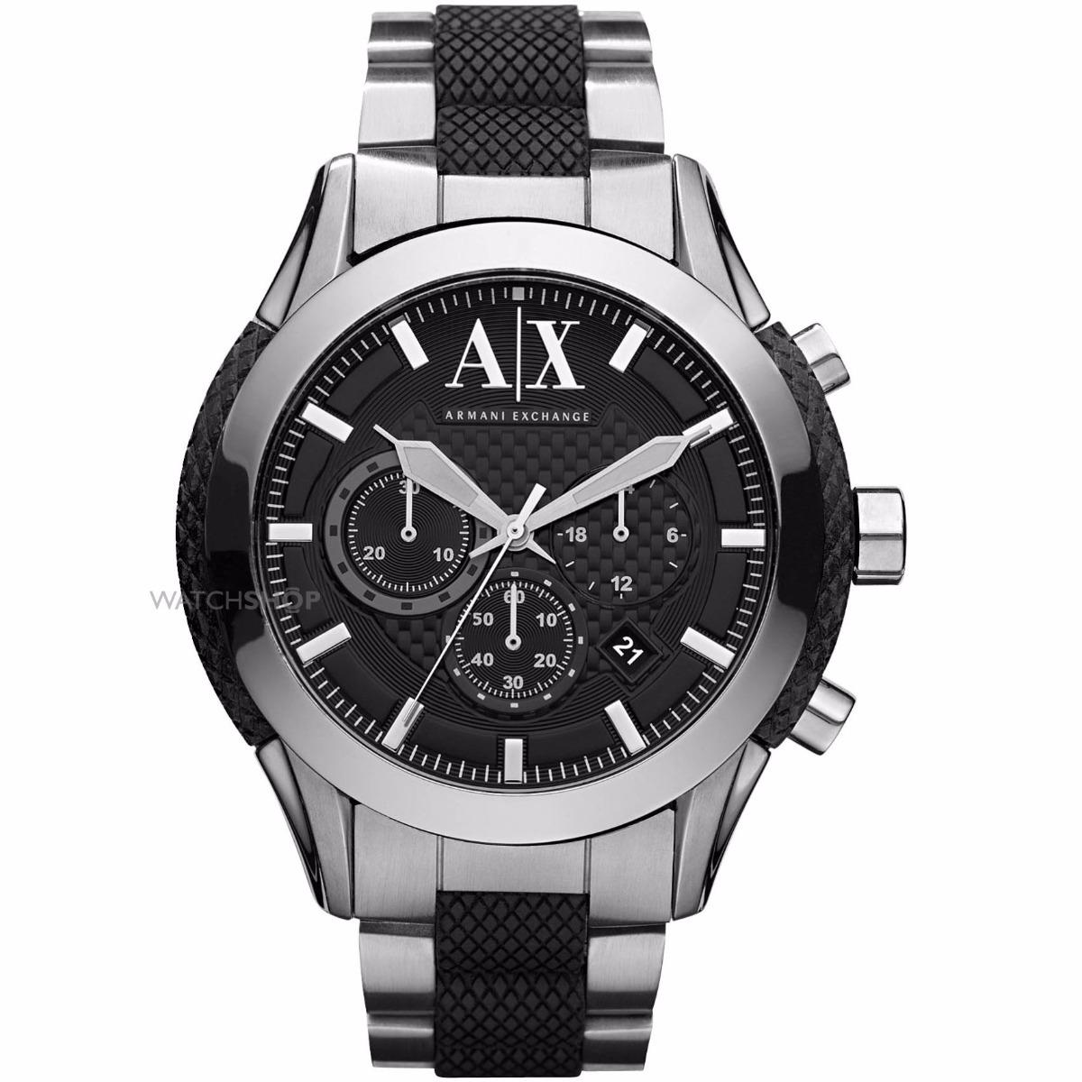 4831bc9a81d1 reloj armani exchange plateado negro ax1214 para caballero. Cargando zoom.
