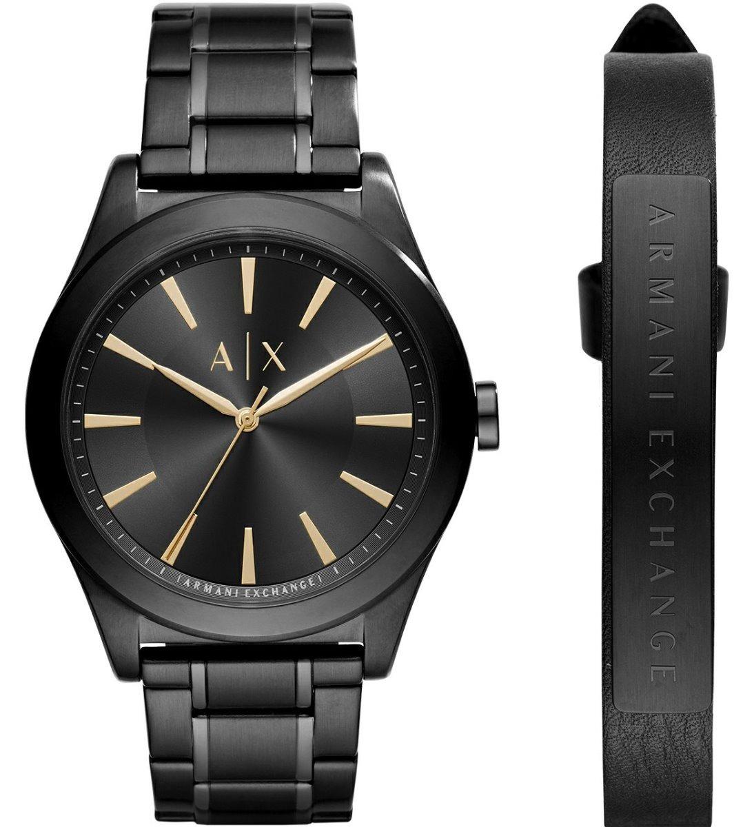 b7e8157bd330 reloj armani exchange set ax7102 acero ngo dorado caballero. Cargando zoom.