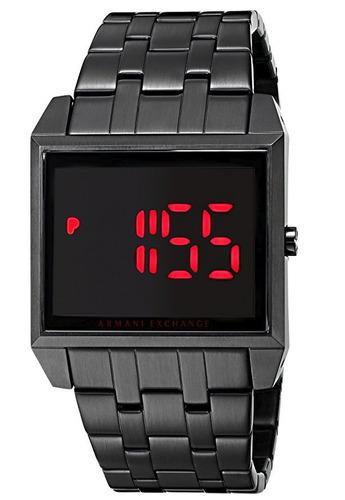 reloj armani exchange street acero negro hombre ax2221
