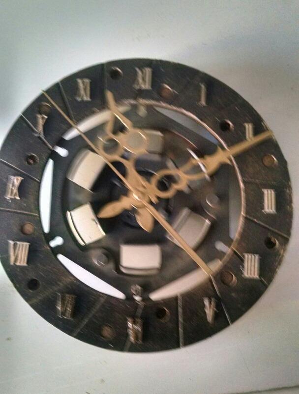 Reloj Disco De Pared Embrague Artesanal nPkwX80O