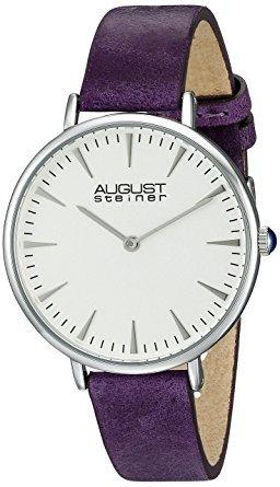 reloj as8187 tono plateado de agosto steiner de las mujere