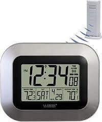 reloj atómico la crosse termómetro sensor p/ exterior alarma