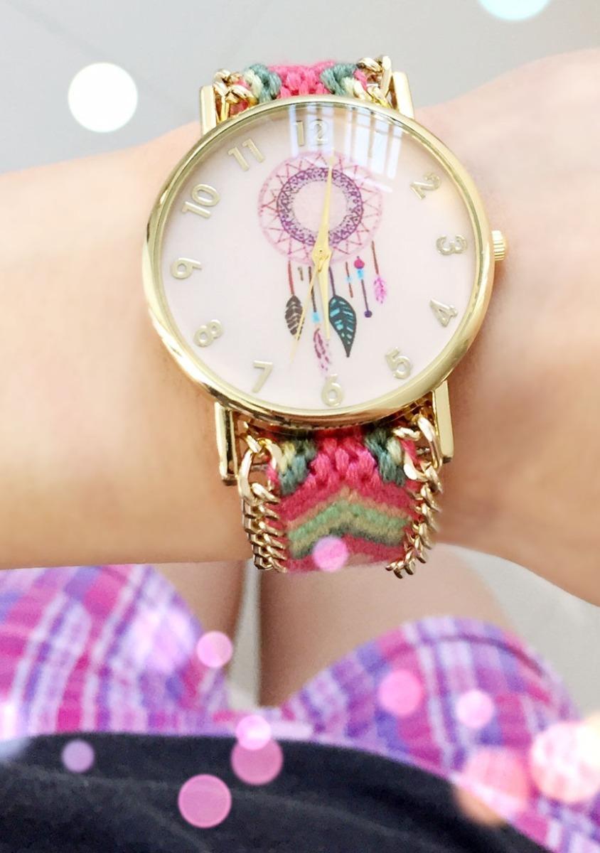 57f9cdb681a9 Reloj Atrapasueños Dama Piel O Tejido Relojes Moda -   79.00 en ...