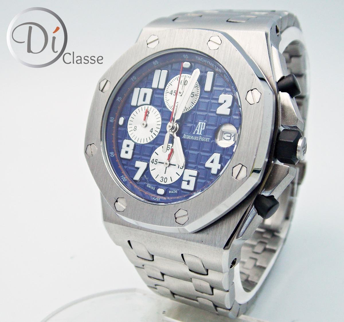 cdd68ab9387 Reloj Audemars Piguet Royal Oak Offshore Acero   Azul -   4
