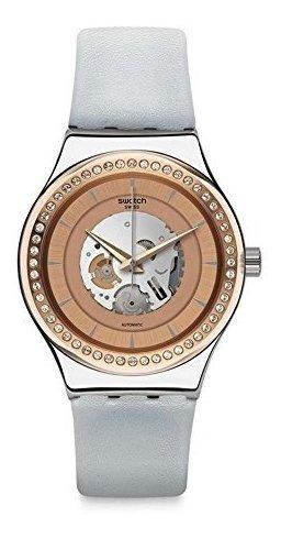 Cuero Automático Yi Correa Unisex Con Swatch Reloj Analógico y7b6Ygf